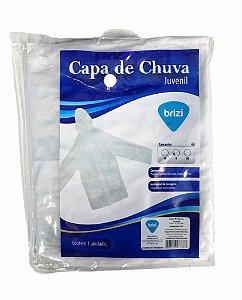 CAPA DE CHUVA PVC C/ TOUCA JUVENIL BRIZI
