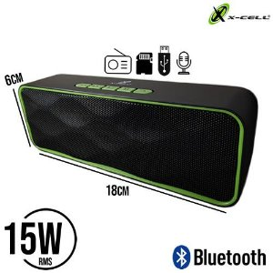 MINI CAIXA DE SOM BLUETOOTH 15W - X-CELL XC-MS-22