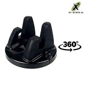 SUPORTE VEICULAR CELULAR CARRO ROTATIVO 360 X-CELL XC-SP-07