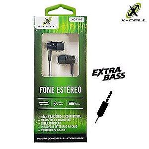 FONE DE OUVIDO P/ CELULAR X-CELL XC-F-10