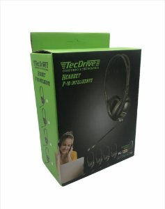 HEADSET GAMER F-10 INTELIGENTE PC TECDRIVE