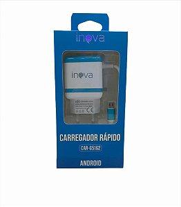 CARREGADOR RAPIDO INOVA 3.1A 2USB CAR-G5162