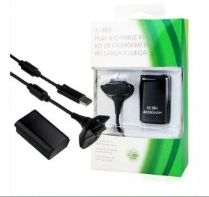 KIT CARREGADOR PLAY CHARGE XBOX 360 X-360 SLIM
