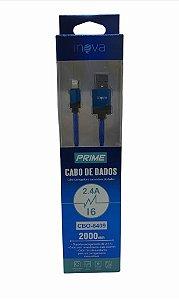 CABO DE DADOS 2M LIGHTNING IPH 2.4A INOVA CBO-8409