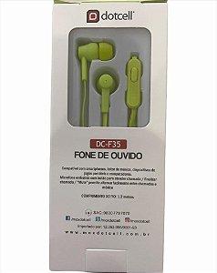 FONE DE OUVIDO DOTCELL DC-F35 VERDE