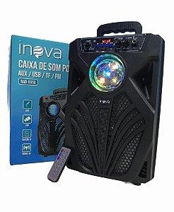 CAIXA DE SOM PORTATIL AUX / USB / TF / FM INOVA RAD-8650