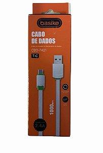 CABO DE DADOS TYPE-C 2.4A BASIKE CBO-7421