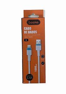 CABO DE DADOS LIGHTNING 2.4A BASIKE CBO-7423
