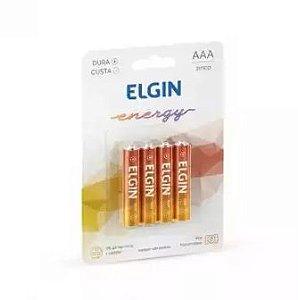 PILHA DE ZINCO-CARVAO AAA C/ 4UND R03 BLISTER ELGIN 82186