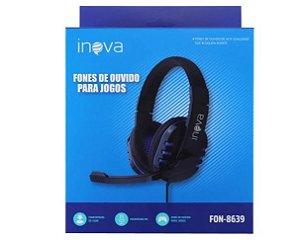 FONE DE OUVIDO GAMER COM MICROFONE PC INOVA FON-8639