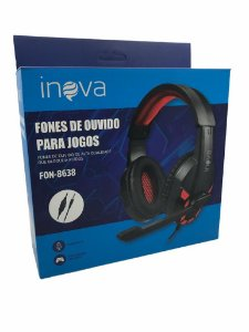 FONE DE OUVIDO GAMER COM MICROFONE P2 INOVA FON-8638