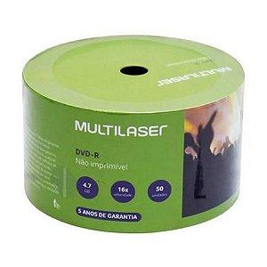 MIDIA DVD-R VEL. 16X - 50 UN. SHRINK 4.7GB MULTILASER DV061