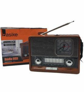RADIO USB AM/FM COM LANTERNA BASIKE RAD-8712