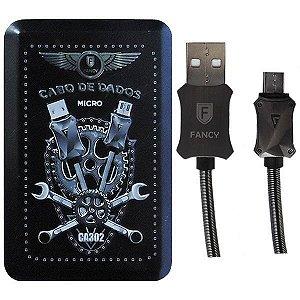 CABO DE METAL MICRO USB V8 1M FANCY CA302