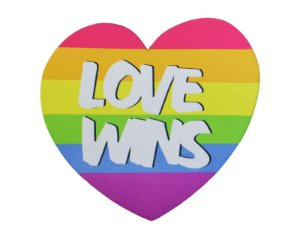 MOUSEPAD DECOR COLORFUN LOVE WINS