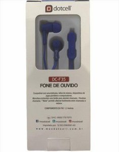 FONE DE OUVIDO DOTCELL DC-F35 AZUL