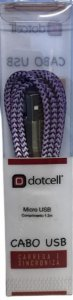 CABO MICRO USB DOTCELL DC-1076 LILAS