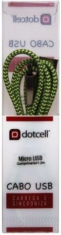 CABO MICRO USB DOTCELL DC-1076 VERDE