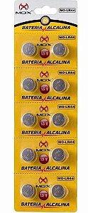 BATERIA BOTAO MOX MO-LR44 (CARTELA C/ 10 PCS)