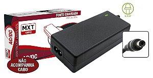 CONVERSOR ESTATICO P/CFTV 12V/5A +quot; MX-12V5.0AFX C/ LED - NAO ACOMPANHA CABO