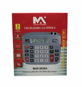 CALCULADORA ELETRONICA 8 DIGITOS MAXMIDIA MAX-9838A