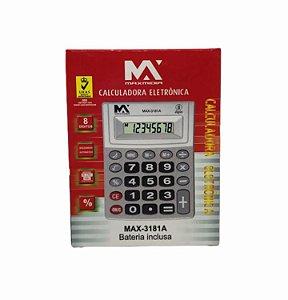 CALCULADORA ELETRONICA 8 DIGITOS C/ BATERIA INCLUSA MAXMIDIA MAX-3181A