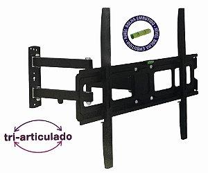SUPORTE DE TELEVISAO TRI-ARTICULADO 32 A 70 SUPORTA ATE 50 KG - MODELO AR-E20MB