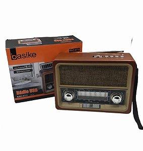 RADIO USB AM/FM COM LANTERNA BASIKE RAD-8711