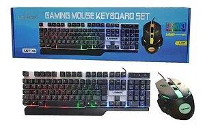 KIT TECLADO E MOUSE GAMER COM FIO LEHMOX LEY-45