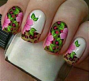 Película Modelo Onça Esverdeada/Floral