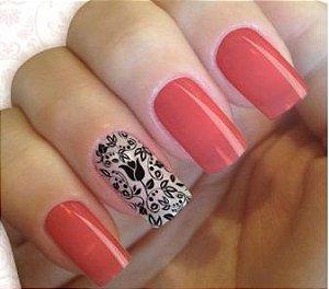 Películas ou Adesivos decorados para unhas  Rosa preta