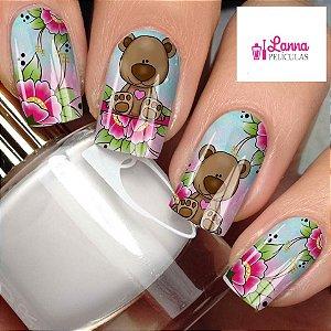 Películas de unha- Modelo Urso Floral