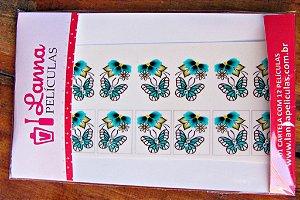 Películas de unhas com Pedraria Borboleta