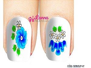 Películas de unha (SerieLP) - Floral Azul