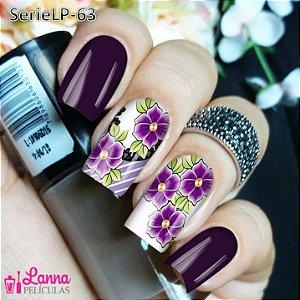 Películas de unha (SerieLP) - Arabesco Floral Roxa