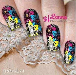 Películas de unha- Modelo Floral