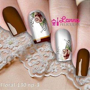 Películas de unhas Modelo Floral