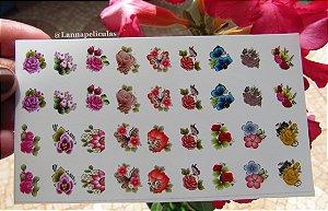 mini Cartelão Películas - Florais