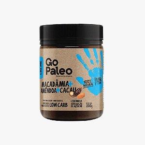 Go Paleo - Creme de Macadâmia, Amêndoa e Cacau - 200g