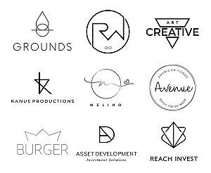 2 design de logotipo minimalista moderno