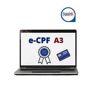 CERTIFICADO DIGITAL E-CPF A3 COM SMARTCARD
