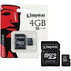 Cartão de Memória Micro Sd 4gb Kingston + Adaptador