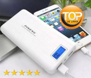 Carregador de Bateria Portátil Power Bank Pineng 20.000mah