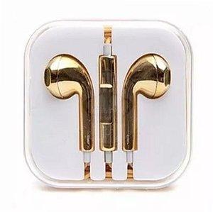 Fone de Ouvido Earpods Para Iphone - Gold Edition