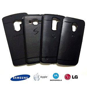 Capa de Silicone Com Logo - Samsung Apple Motorola Lg