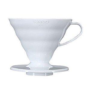 Suporte Filtro Plástico Branco Hario V60 - nº 02