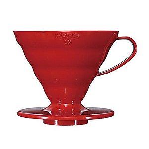 Suporte Filtro Plástico Vermelho Hario V60 - nº 02