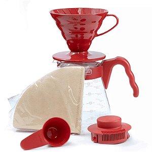 Kit Hario V60 Red para passar café