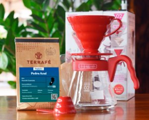 Kit v60 Red + Microlote Pedra Azul