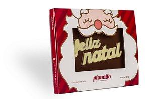 Placa Feliz Natal Chocolate ao Leite